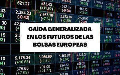 Caída generalizada en los futuros de las bolsas europeas por el IPC estadounidense